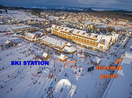 ski slopes and thermal baths near Hotel Bania