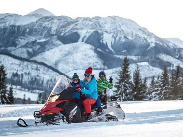 snowmobile ride in Zakopane