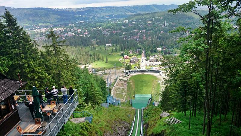 Zakopane view from the top of the ski jumping hill