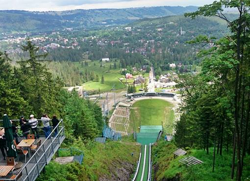 Zakopane from the top of the ski jumping hill