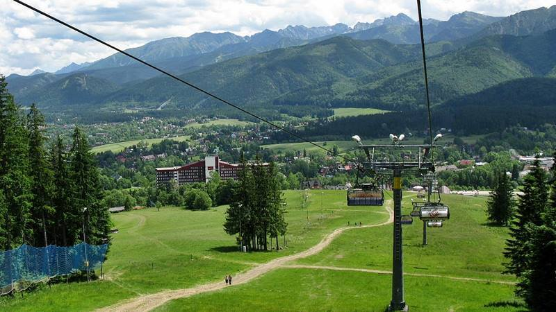 panoramic view from the chairlift Szymoszkowa