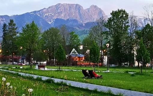 beautiful park in the centre of Zakopane