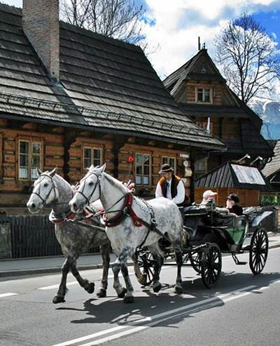 Zakopane regional horse-drawn carriage