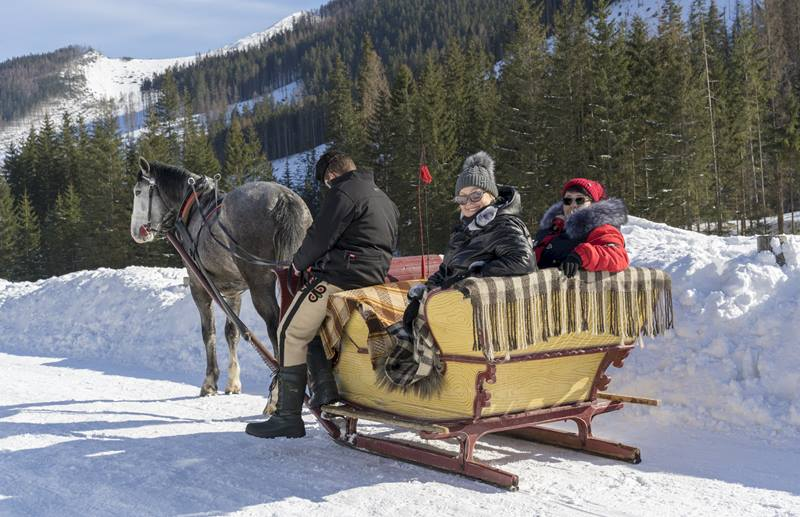 sleigh ride in the Tatra National Park